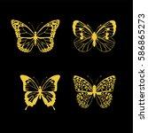 vector illustration of four... | Shutterstock .eps vector #586865273