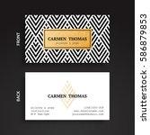 business cards. vintage... | Shutterstock .eps vector #586879853