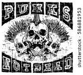 vector illustration skulls of...