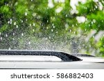 Raindrop Falling On Roof Car