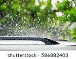 Raindrop Falling On Roof Car