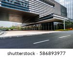 urban traffic road with... | Shutterstock . vector #586893977
