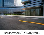 urban traffic road with... | Shutterstock . vector #586893983