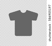t shirt vector icon eps 10 on... | Shutterstock .eps vector #586905197