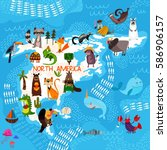cartoon world map with...