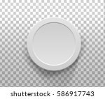 realistic 3d  gray blank... | Shutterstock .eps vector #586917743