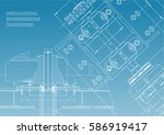 blueprints. mechanical... | Shutterstock .eps vector #586919417