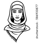 animation portrait of the arab... | Shutterstock .eps vector #586933877