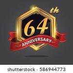 celebrating 64th golden... | Shutterstock .eps vector #586944773