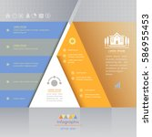 triangle infographics design... | Shutterstock .eps vector #586955453