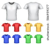 colorful male t shirts detailed ... | Shutterstock .eps vector #586959377