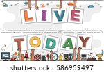"""hands holding """"live today"""" for... 