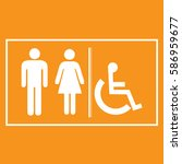 restroom sign icons  ... | Shutterstock .eps vector #586959677