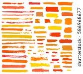 orange  yellow  red vector... | Shutterstock .eps vector #586968677