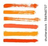 vector strokes of paint on... | Shutterstock .eps vector #586968737