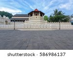 temple of the sacred tooth...   Shutterstock . vector #586986137