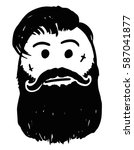 cartoon vector stickman hipster ... | Shutterstock .eps vector #587041877