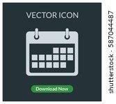 calendar vector icon | Shutterstock .eps vector #587044487