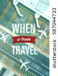 vector travel typographic... | Shutterstock .eps vector #587044733