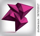 volume geometric shape  3d... | Shutterstock .eps vector #587052017