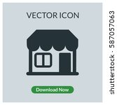 store vector icon | Shutterstock .eps vector #587057063