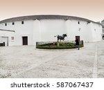 spains oldest bullring built in ... | Shutterstock . vector #587067437