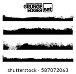 set of grunge and ink stroke... | Shutterstock .eps vector #587072063