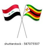 iraqi and zimbabwean crossed...   Shutterstock .eps vector #587075507