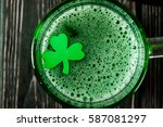 happy st. patrick's day green... | Shutterstock . vector #587081297