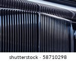 shiny chromed front radiator... | Shutterstock . vector #58710298