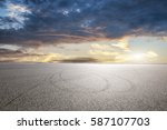 empty asphalt floor and... | Shutterstock . vector #587107703