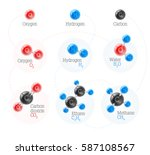 set of chemical and physical...   Shutterstock .eps vector #587108567
