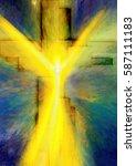 easter resurrection   abstract...   Shutterstock . vector #587111183