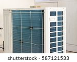 residential air conditioner... | Shutterstock . vector #587121533
