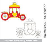 chariot to be traced only of... | Shutterstock .eps vector #587123477