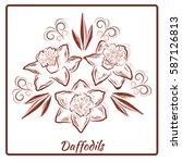 a beautiful bouquet of... | Shutterstock .eps vector #587126813