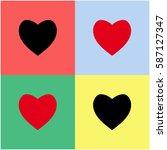 heart vector  icon. | Shutterstock .eps vector #587127347