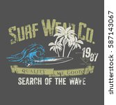 surf typography  t shirt... | Shutterstock .eps vector #587143067