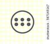 menu button  vector illustration | Shutterstock .eps vector #587145167