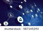 social network background .... | Shutterstock . vector #587145293