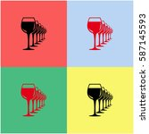 wineglasses  vector  icon.