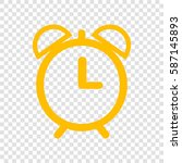 alarm clock sign illustration.... | Shutterstock .eps vector #587145893