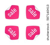 product stickers set with sale... | Shutterstock .eps vector #587160413