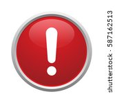 red button with exclamation mark | Shutterstock .eps vector #587162513
