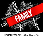 family word cloud collage  ... | Shutterstock .eps vector #587167073