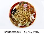traditional toppings on a ramen ... | Shutterstock . vector #587174987