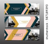 abstract vector layout... | Shutterstock .eps vector #587189393