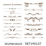 ornamental dividers set on... | Shutterstock .eps vector #587190137
