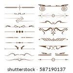 ornamental dividers set on... | Shutterstock .eps vector #587190137