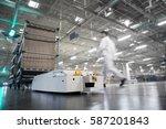 automatic transport robot | Shutterstock . vector #587201843